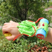 Outdoor Summer Plastic Kids Wrist Water Gun Squirt Toy Gun Water Sprinkling Water Pistol Shooter for Swimming Pool Beach VE0081