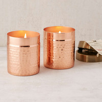 Found Goods Market Homestead Hammered Copper Candle - Urban Outfitters
