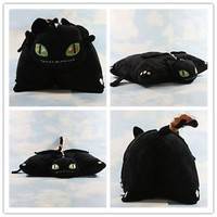 Movie Plush Toy HOW TO TRAIN YOUR DRAGON Night Fury 15'' Toothless Cushion Doll