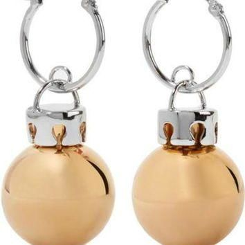 ONETOW balenciaga december gold and silver tone earrings 2