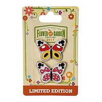 Disney Epcot Flower Garden 2017 Mickey & Minnie Butterfly Limited Pin New Card