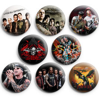 Avenged Sevenfold Pinback Buttons Badge 1.25 inch (Set of 8) NEW