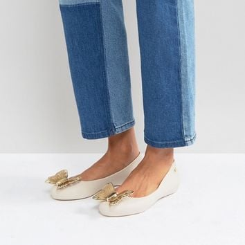 Zaxy by Melissa Butterfly Luxe Ballerina at asos.com