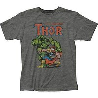 Authentic Mens Marvel Thor vs. The Hulk T-Shirt