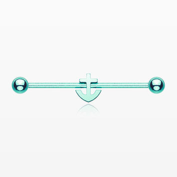 Colorline Dainty Anchor Industrial Barbell