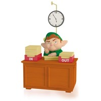 Takin' Care of Business Working Elf Musical Ornament