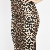 Lady Leopard Pencil Skirt