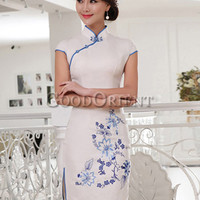 Asian fashion floret design women dress