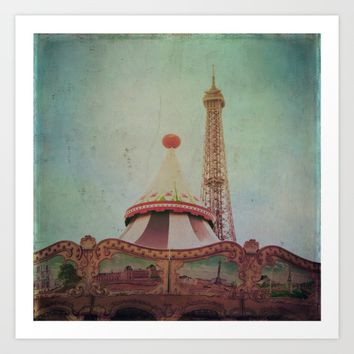 Bohemia of Paris Art Print by Victoria Herrera