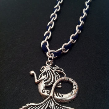Mermaid Necklace Silver Chain by ConstantlyUnfolding on Etsy