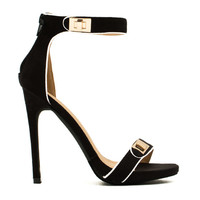 Twist Lock Single Strap Heels