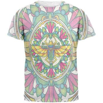 CREYCY8 Mandala Trippy Stained Glass Scarab Mens T Shirt