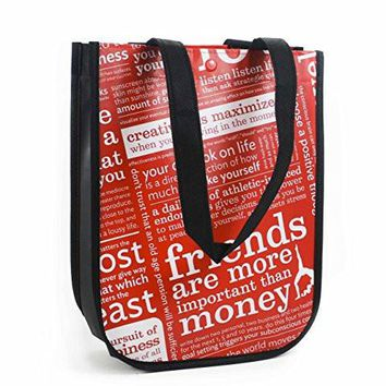 Lululemon Red with Graphic Print Small Reusable Tote Carryall Gym Bag