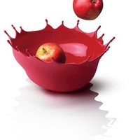 Dropp!! Fruit Bowl in Deep Red