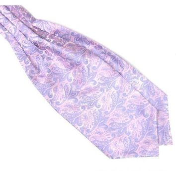 Men's Lavender Paisley Gentleman Collection Ascot/Cravat Tie