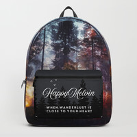 Warm fuzzy feelings Backpack by happymelvin