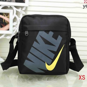 NIKE men and women with the same paragraph wild casual fashion backpack F-XS-PJ-BB Yellow