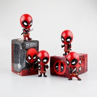 Deadpool Dead pool Taco  Katana Sword Car Bobble Head Anime PVC Action Figure  Model Toy 10cm For Anime Lover N045 AT_70_6