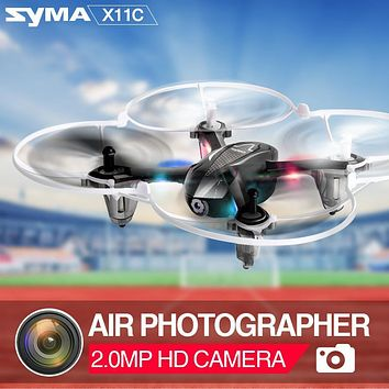 Syma X11C 4CH 2.4GHz Mini RC Drone Helicopter With 2.0MP HD Camera 3D Roll Pocket Quadcopter Dron Aircraft Toys For Kids Gift