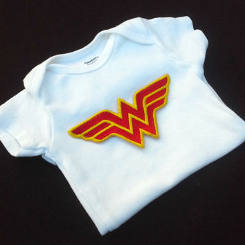 Wonder Super Hero Woman Onesuit baby layette