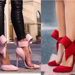 Elegant Lady's Ankle Strap Big Bowknot High Stiletto Heels Pointed Toe OL Shoes