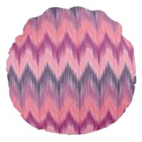 Coral & Rose Round Throw Pillow
