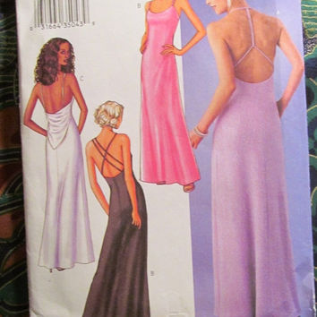 SALE Uncut Butterick Sewing Pattern, 3520! Small/Medium/Large/Plus/Women's/Misses Formal/Evening/Gowns/Dresses/Close Fitting/Back Drape/Flar