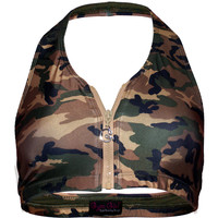 Halter Sports Bra in Under Cover
