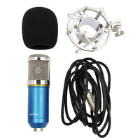 Blue Condenser Microphone studio Sound Recording Mic W/ Shock Mount Recording