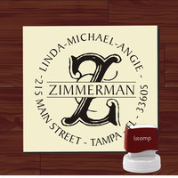 Custom SELF INKING stamp - Return Address Rubber Stamp - style MS5311- Personalized wedding or christmas gift