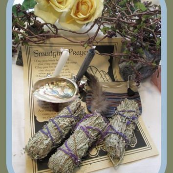 "White Sage "" SMUDGE ME"" Set"
