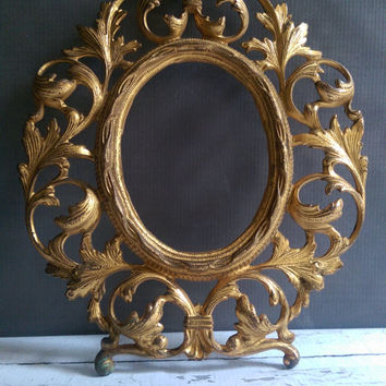 vintage brass oval frame ornate brass frame antique oval frame