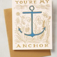 Rifle Paper Co. You're My Anchor Card in Pink Size: One Size Books