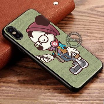Hipster Mickey Mouse Disney iPhone X 8 7 Plus 6s Cases Samsung Galaxy S8 Plus S7 edge NOTE 8 Covers #iphoneX #SamsungS8