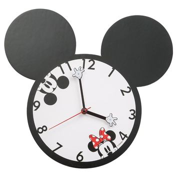 Mickey and Minnie Mouse Shaped Deco Wall Clock