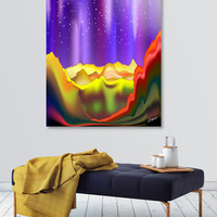 «Aurora Borealis on Rainbow Surreal Mountains», Numbered Edition Acrylic Glass Print by BluedarkArt Lem - From 70€ - Curioos