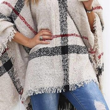 The mad for plaid poncho
