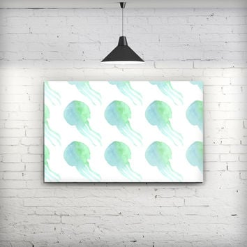 Seamless WaterColor Jellyfish - Fine-Art Wall Canvas Prints