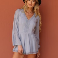 West Coast Wardrobe Hazy Daze Romper in Periwinkle