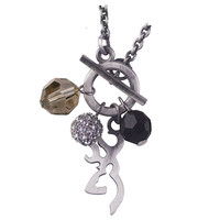 Browning Buckmark Antique Lariat Chain Necklace