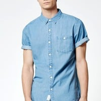 Beid Chambray Short Sleeve Button Up Shirt