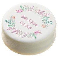 Watercolor Flowers Personalize Wedding Party Oreos
