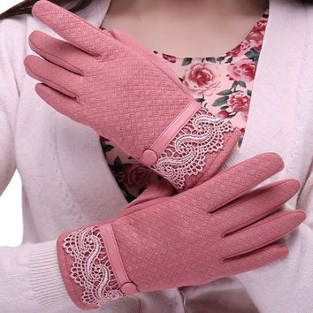 2017 Stylish Women Soft Gloves Fashion Telephone Touch Screen Winter Sport Warm Gloves Women's Cashmere Mittens luvas