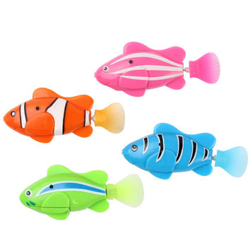 2016 Hot Electronic Pets Home Robofish Aquarium Decorations Robot Fish Robo Toys Fish Tank Decor Accessories #KF