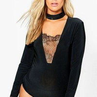 Plus Camilla Lace Detail Bodysuit