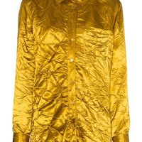 Ladies Gold Crinkle Button-Up Shirt by Sies Marjan