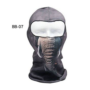 CAMTOA Motorcycle Face Mask Breathable Anti UV Face Mask Headgear Hats Lycra Balaclava Full Face Mask Neck Hood Animal Styles for Outdoor Motorcycle Bike Cycling Sports Skiing Fishing Climbing 07