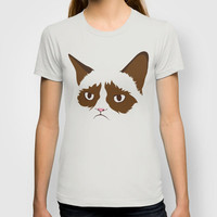 Grumpy Cat, Minimalist in Four Colors T-shirt by Mel W. | Society6