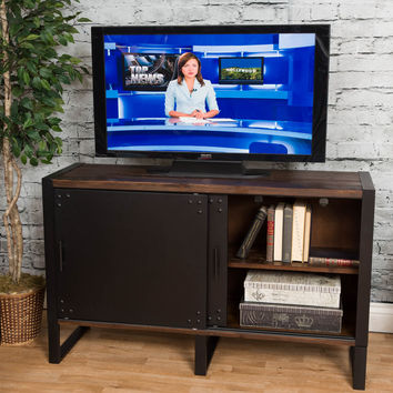 Michael Anthony Natural Reclaimed Wood 2-Door Media Console