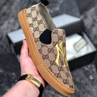 Kuyou Fa1973 Gucci Brown Slip-on Shoes For Men